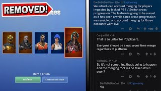 ACCOUNT MERGING Will Be REMOVED from Fortnite..! Here's Why..