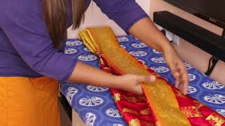 how to pleat saree pallu in tamil \ saree pleating tricks in tamil\learn to get perfect saree pleats