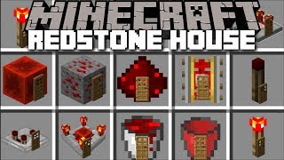 Minecraft REDSTONE HOUSE MOD / BUILD YOUR OWN HOUSE WITH REDSTONE FEATURES !! Minecraft