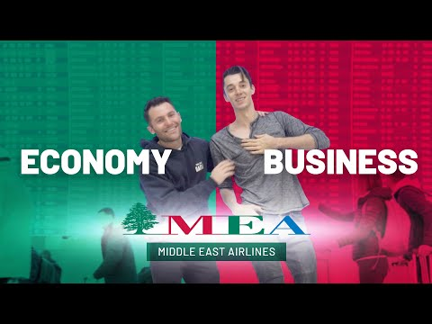 Flying Middle East Airlines (MEA) In Business Class AND Economy | Paris To Beirut