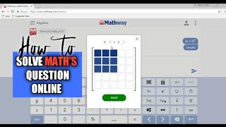 How to solve mathematics question online
