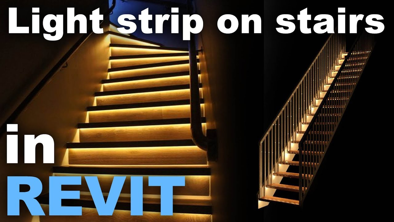 Lighting Basement Washroom Stairs: Light Strip In Stairs In Revit Tutorial
