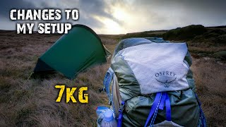Backpacking the Edale Skyline | A few changes to my lightweight camping gear