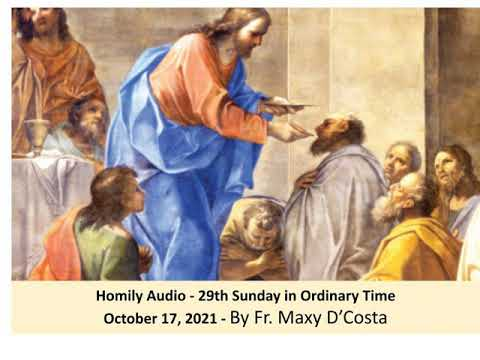 Oct. 17, 2021 - Why is there suffering? - Fr. Maxy D'Costa
