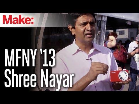 Shree Nayar at the World Maker Faire New York 2013