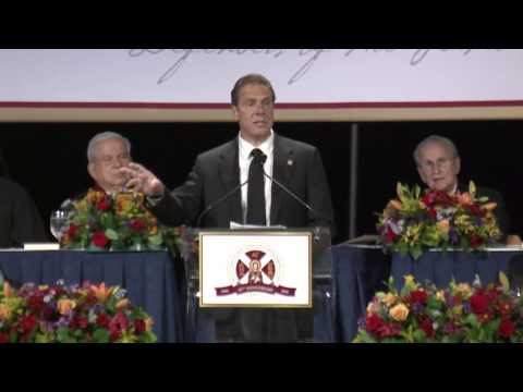 Governor Cuomo Accepts the Athenagoras Human Rights Award at the Order of Saint Andrew's Banquet