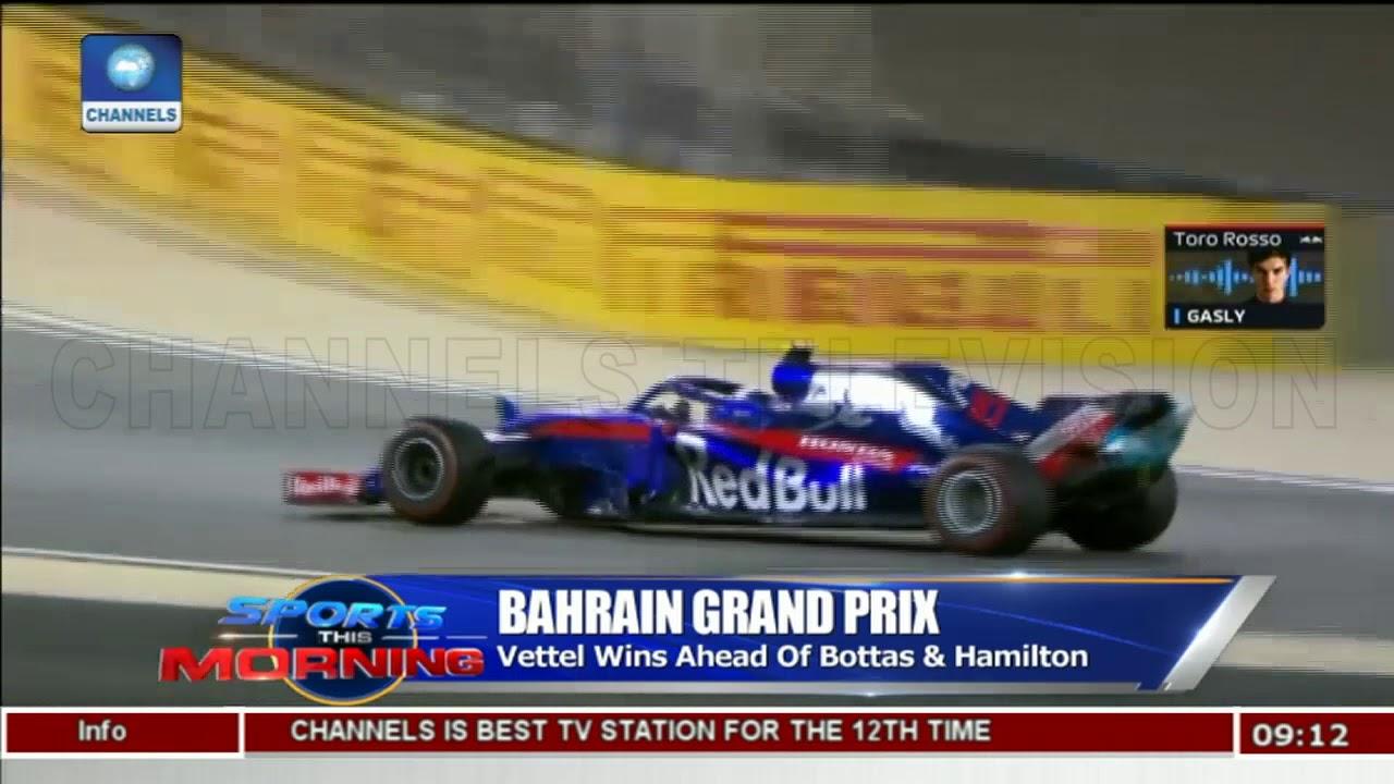 Vettel Wins Ahead Of Bottas & Hamilton In Bahrain Grand Prix |Sports This Morning|