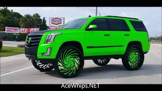 """AceWhips.NET- First in the World 2017 Cadillac Escalade on 34""""s Asantis  by WTW Customs"""