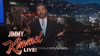 Jimmy Kimmel Thanks Ellen DeGeneres For Her Generosity