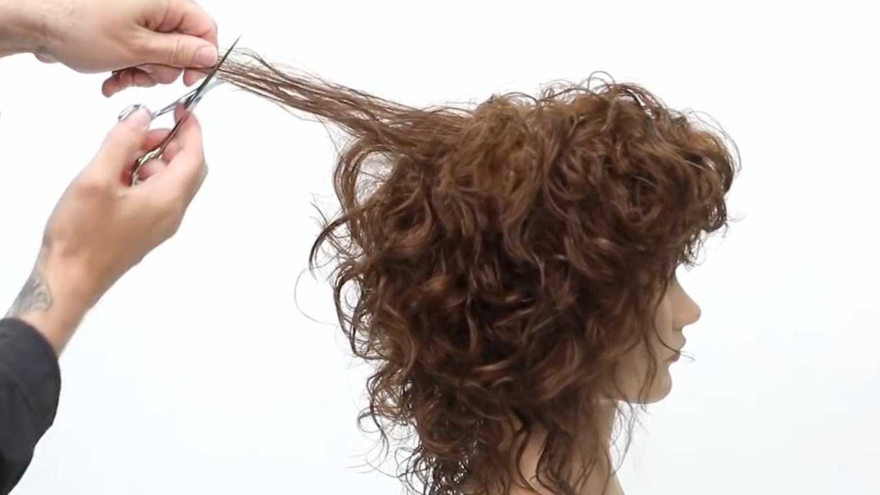 Curly Shag Haircut Tutorial