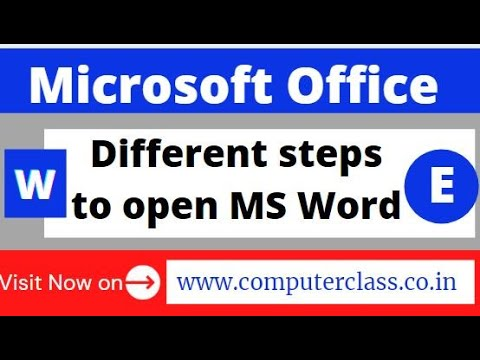Different steps to open MS Word   Interface of MS Word