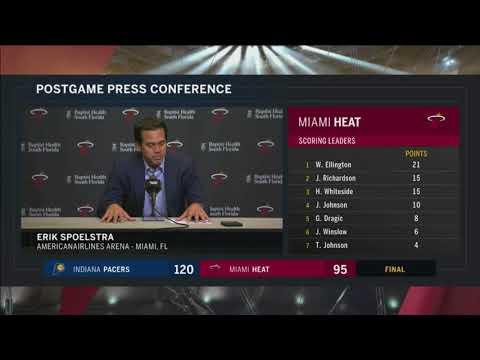 Erik Spoelstra -- Miami Heat vs. Indiana Pacers 11/19/2017