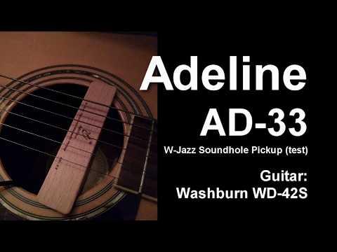 Adeline AD-33 W-Jazz Soundhole Pickup (test - review guitar pickup)