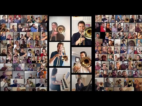 """""""Song For Health"""" Special Arrangement. Martin Schippers Collaboration With 135 Trombonists."""