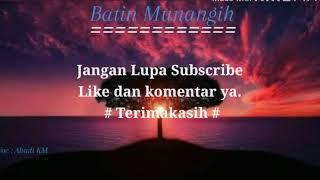 Gambar cover Karaoke Lagu Kerinci (Batin Munangih) - Ahadi KM
