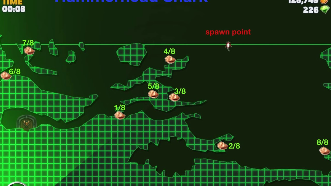 Hungry Shark Evolution shell locations - YouTube