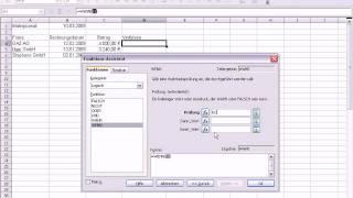 OpenOffice Calc Funktion Wenn
