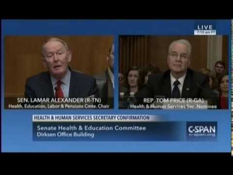 """Sen. Lamar Alexander: Price Is """"An Excellent Nominee"""" For HHS Secretary"""