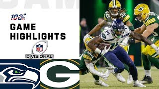 Seahawks vs. Packers Divisional Round Highlights