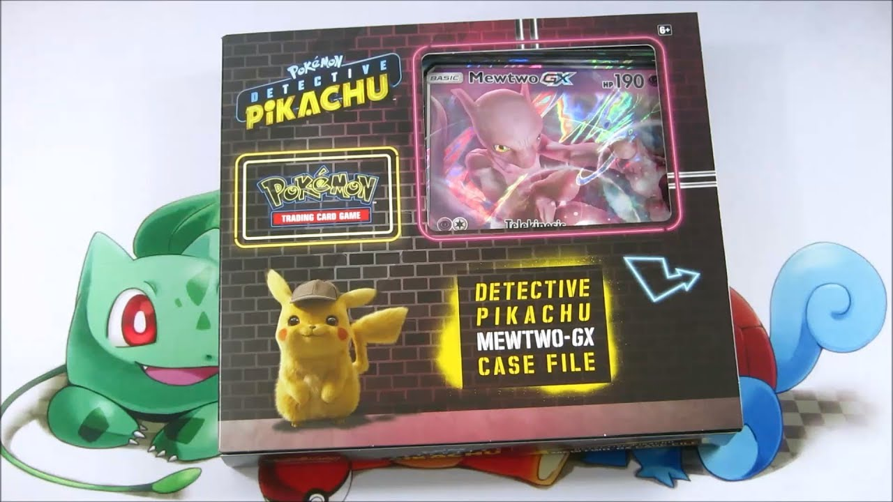 Pokemon Tcg Opening Pokemon Detective Pikachu Mewtwo Gx Case File