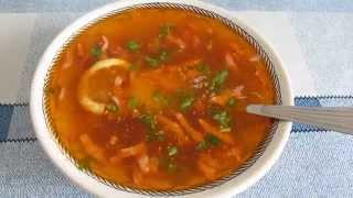 видео суп солянка рецепт