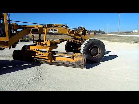 Galion T500L Grade O Matic Motor Grader Demo YouTube