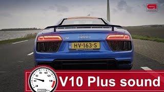 Audi R8 V10 Plus sound: LOUD!