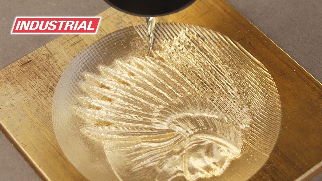 3d Brass Indian Head Cnc Project Using Amana Tool Zrn