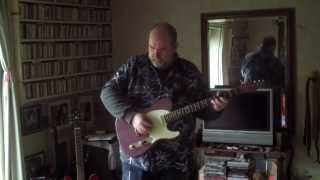 Slow Blues in G - RM Guitars relic T type in faded burgundy mist