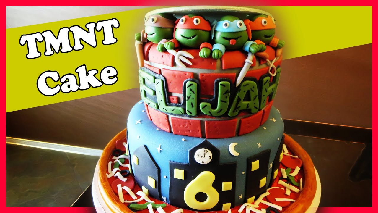 Making A Ninja Turtle Cake Youtube