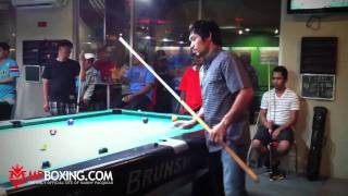 MPBoxing.com - Manny Pacquiao dominates at the Billiards Table