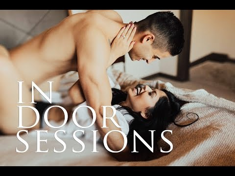BEHIND THE SCENES - INDOOR COUPLE SESSION { before and after photos } thumbnail