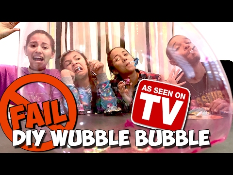 DIY SUPER WUBBLE BUBBLE CHALLENGE  As seen on TV with The Little LaVignes