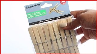A New Way Of Using Clothespins You Never Knew About   It's Shocking!!   Amazing Diy Wall Decor Ideas