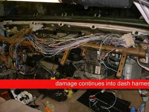 avalon dash wire harness repair youtube rh youtube com toyota avalon 2000 wiring harness toyota avalon stereo wiring harness