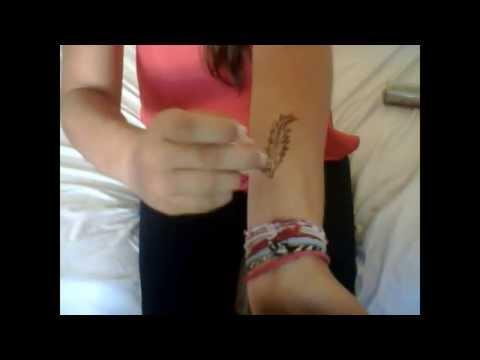 comment faire soit m me un tatouage temporaire youtube. Black Bedroom Furniture Sets. Home Design Ideas