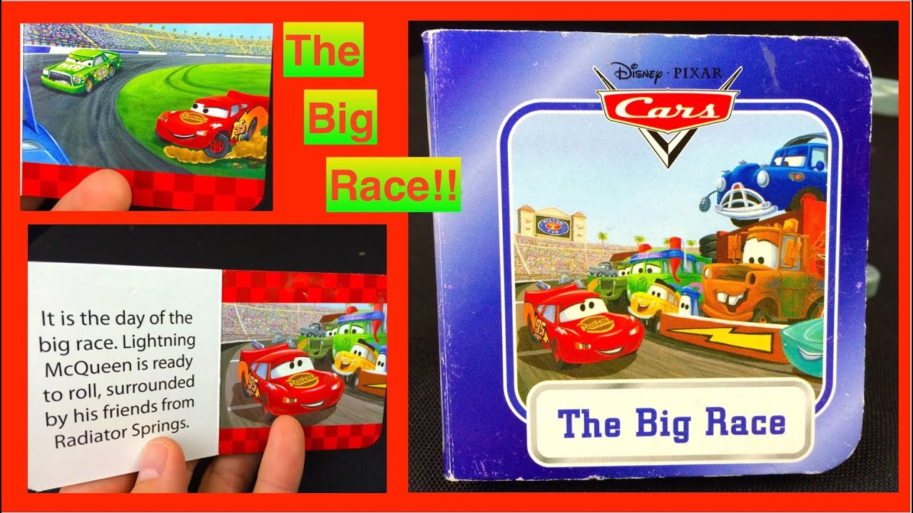 "Cars LIGHTNING McQueen ""The BIG RACE"" Book Reading!! For ..."