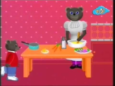 Бурый медвежонок очень голоден