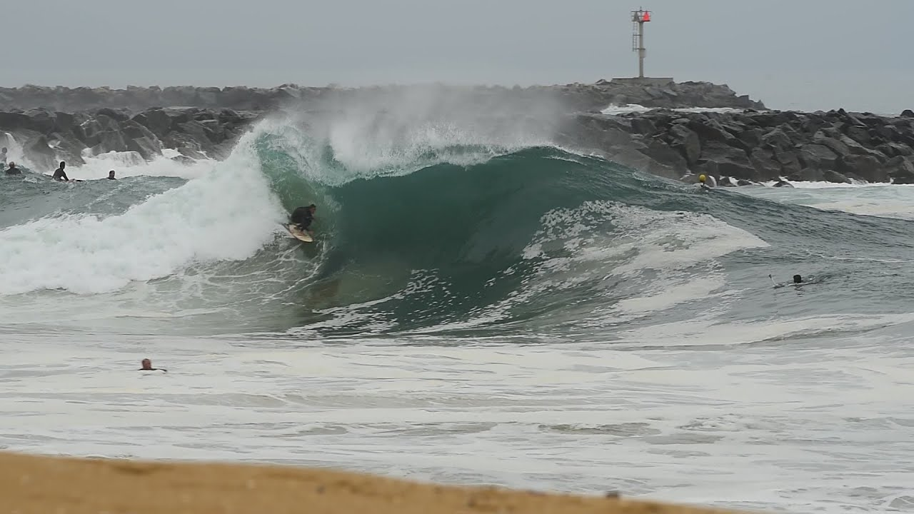 The Wedge Welcomes The First South Swell of the Summer...