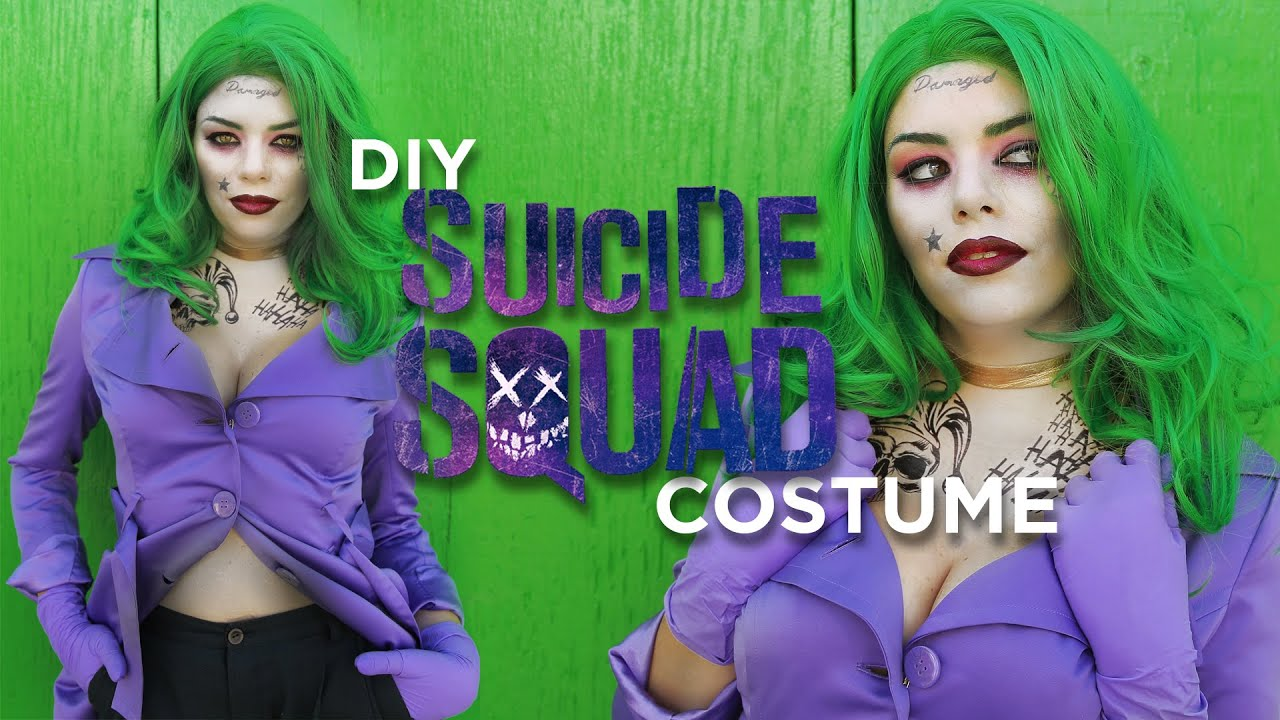DIY SUICIDE SQUAD JOKER INSPIRED COSTUME  sc 1 st  YouTube & DIY SUICIDE SQUAD JOKER INSPIRED COSTUME - YouTube