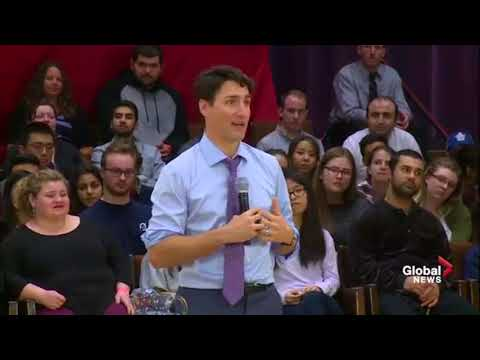 Justin Trudeau Western U, London Town Hall Q&A with Haters and Hecklers