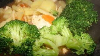 Жареная картошка с брокколи