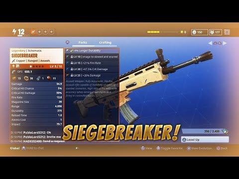 Fortnite Save The World Noob Gets SiegeBreaker!