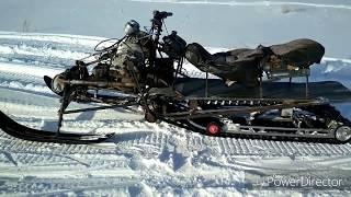 обзор и тест самодельного снегохода с ДВС Днепр