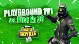 Nick Eh 30 vs. coL Hogman 1v1 Series in Playground Fortnite Battle Royale