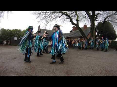 Bollin Morris dance Cuckoos nest at The vine, dunham massey