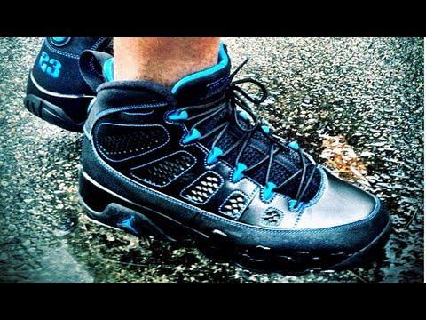 black blue jordan 9