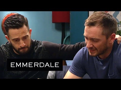 Emmerdale - Ross and Pete Mourn Their Brother Finn