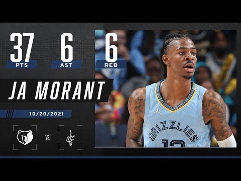 Ja Morant GOES OFF for 37 PTS, 6 REB, 6 AST & 2 BLK in opener
