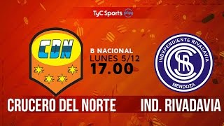 Crucero del Norte vs Independiente Rivadavia full match